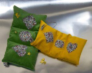 Saquito Verde y Amarillo con estrellas doradas