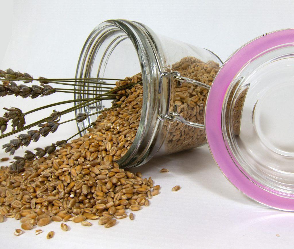 Tarro de trigo & lavanda